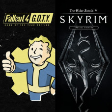 Аренда Fallout 4 + Skyrim (Все DLC) для PS4