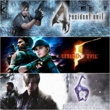 Аренда Resident Evil 4, 5, 6 (набор 3 в 1) для PS4